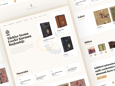 Home Page [Turkey Authoring Works Authority] parchment documentary art poem write web design ux ui society ottoman old store old book history culture book association