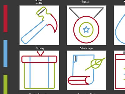 Icons for Diyalo Foundation nonprofit icons