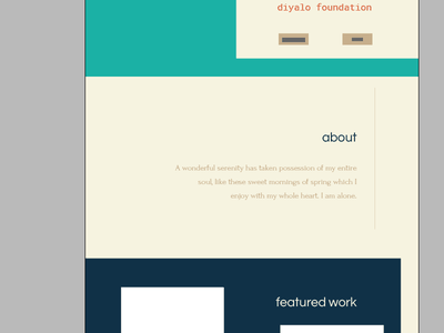 About Section portfolio landing page about ui ux