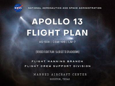 Apollo 13 Type branding design typography type