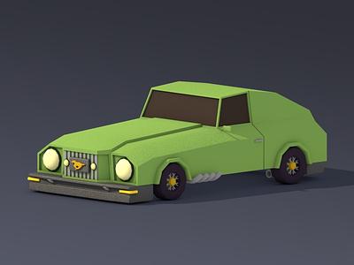 A little green mustang lowpoly c4d
