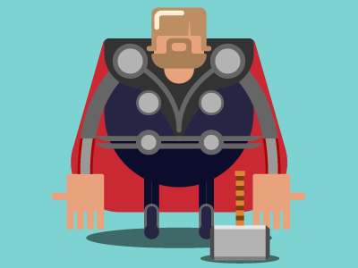 Thor (self-portrait)