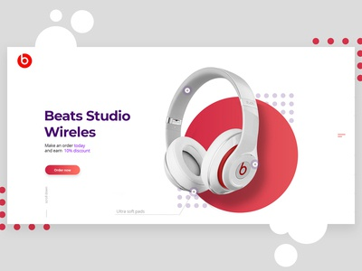 Monster beats by dr.Dre promo landing