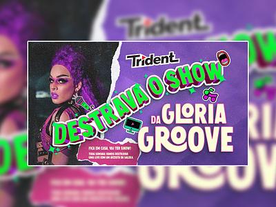 Lettering DESTRAVA O SHOW (Glória Groove) - Trident lettering artwork design art illustration art