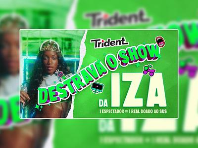 Lettering DESTRAVA O SHOW (IZA) - Trident lettering illustration design design art artwork art