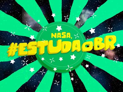 Lettering | Nasa, #EstudaOBR | Guaraná Antárctica