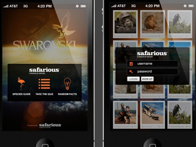 iphone app concept for Safarious