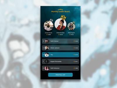 Daily UI Challenge 19 - Leader Board web branding mobile ui flat minimal design