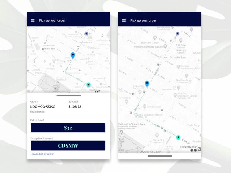 Daily UI Challenge 20 - Location Tracker branding mobile ux flat ui minimal design