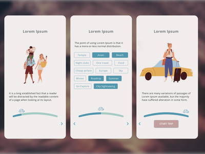 Daily UI Challenge 22 - Onboarding mobile ux ui flat minimal design