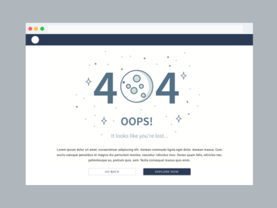 Daily Challenge 08 - 404 website web minimal ux flat design