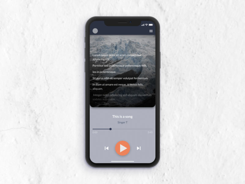 Daily UI Challenge 09 - Music Player figma app ui minimal flat design