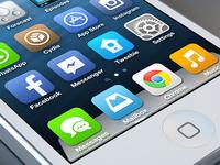 iOS 7 Flat Homescreen Concept