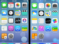 Ios7 springboard redesign comparison