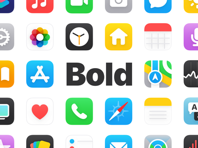 Bold (iOS 14 Icon Set) custom aesthetics aesthetic ios 14 ios redesign home screen icon pack icon set icons