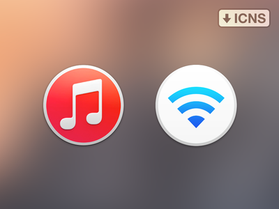 iTunes & Airport Utility yosemite icons itunes airport os x flat icns download replacement