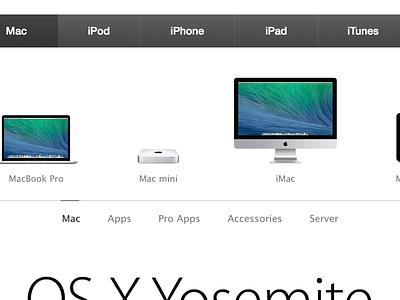 Apple.com Navigation apple navigation redesign