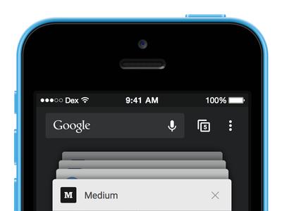 Chrome for iOS: Material Redesign google chrome ios material design redesign concept