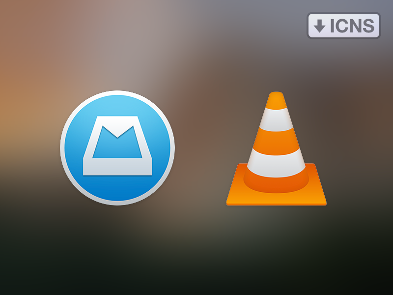 Mailbox & VLC os x icons replacement vlc mailbox flat icns download