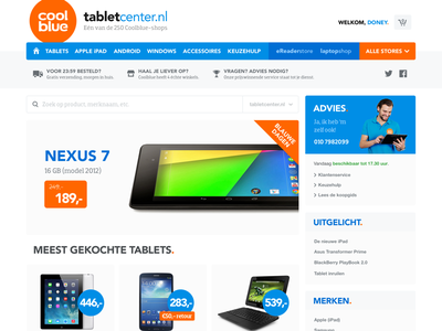 Coolblue Redesign (2013) redesign webshop website webdesign online shopping