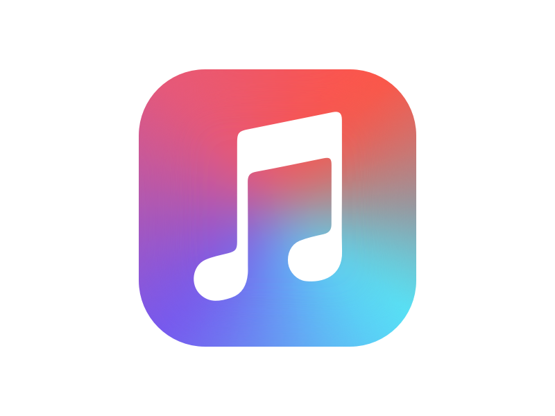 Apple Music Color-Flipped gradient icon app color music apple