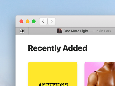 Music for macOS (Concept) itunes high sierra macos mac concept app music