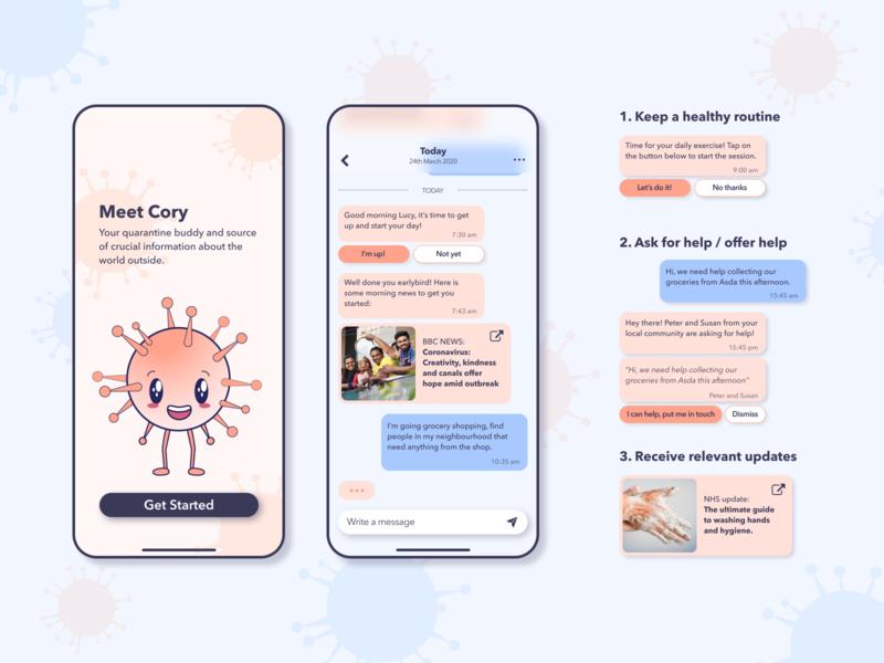Quarantine Buddy mobile chatbot