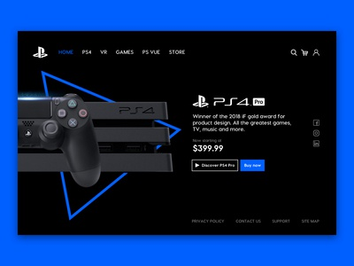 Playstation 4 Pro UI Page