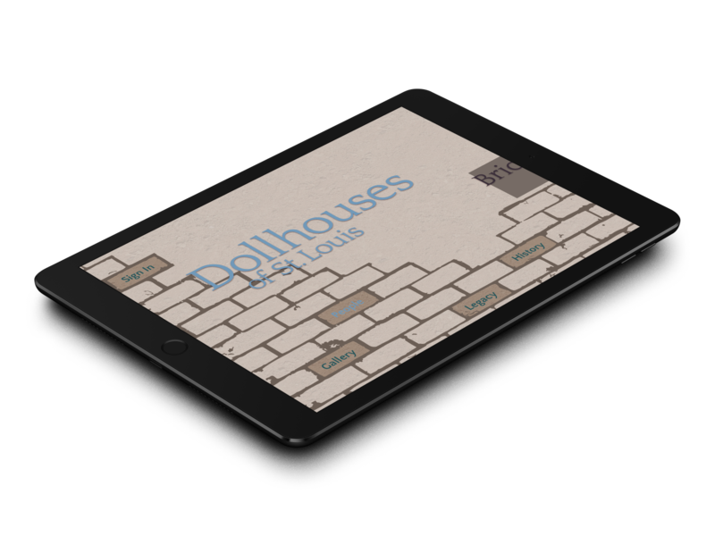 Dollhouses of St. Louis digital wireframe experience ipad app editorial reading narrative ux ui