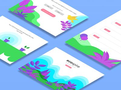 Hackathon Submission: ecospire web illustration vector graphic design digital illustration design ui