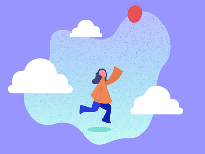 """In the Clouds"" icon vector art web illustration vector minimal graphic design digital illustration design ui"
