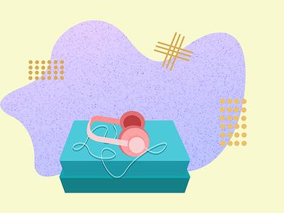 """Headphones"" branding vector art web illustration vector minimal graphic design digital illustration design ui"