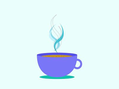 Coffee Cup vector art illustration vector minimal graphic design digital illustration design ui