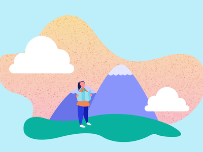 Mountain Journey branding web vector art illustration vector minimal graphic design digital illustration design ui
