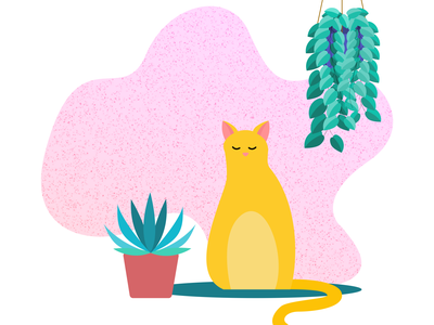 A cat at rest web vector art illustration vector minimal graphic design digital illustration design ui