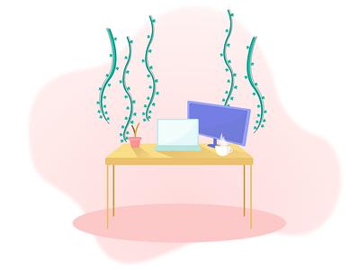 Workspace Sketch art workspace productivity abstract icon vector art illustration vector minimal graphic design digital illustration design ui