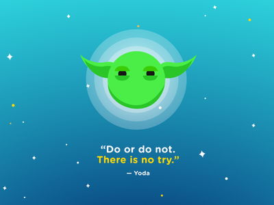 Do or do not. There is no try. web type ux minimal digital illustration poster graphic design vector art vector illustration ui design art star wars yoda
