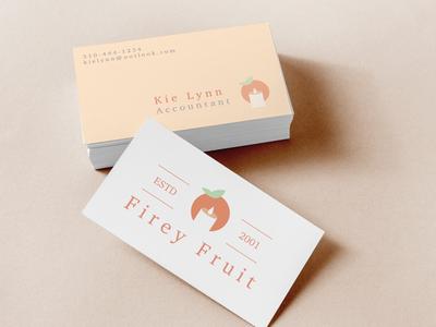 Firey Fruit Business Cards