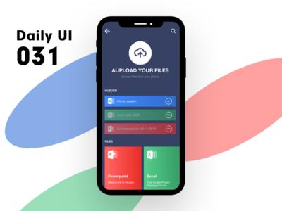 Daily UI 031 - Aupload