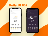 Daily UI 037 - Weather app