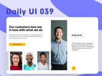 Daily UI 039 - Testimonials