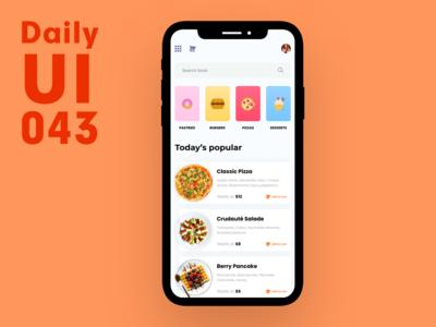 Daily UI 043 - Food menu