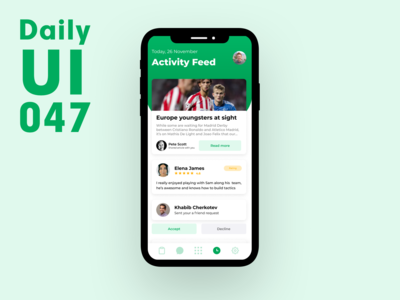 Daily UI 047 - Activity Feed