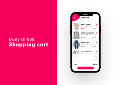Daily UI 058 - Shopping cart