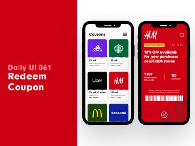 Daily UI 061 - Redeem coupon