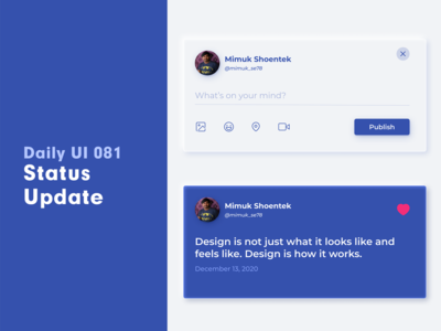 Daily UI 081 - Status Update