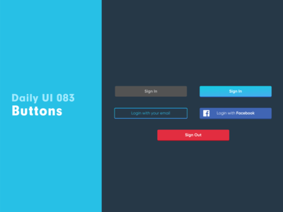 Daily UI 083 - Buttons