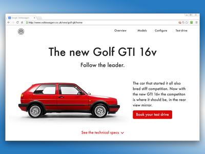 003 Landing Page VW Golf Mk2 GTI 16v