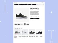 Shoes shop Product page Concept