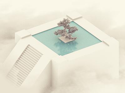 Clouds WIP architecture geometric 3d